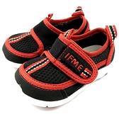 《7+1童鞋》日本 IFME 透氣 魔鬼氈 排水孔 寶寶機能學步鞋 水涼鞋 C471 黑色