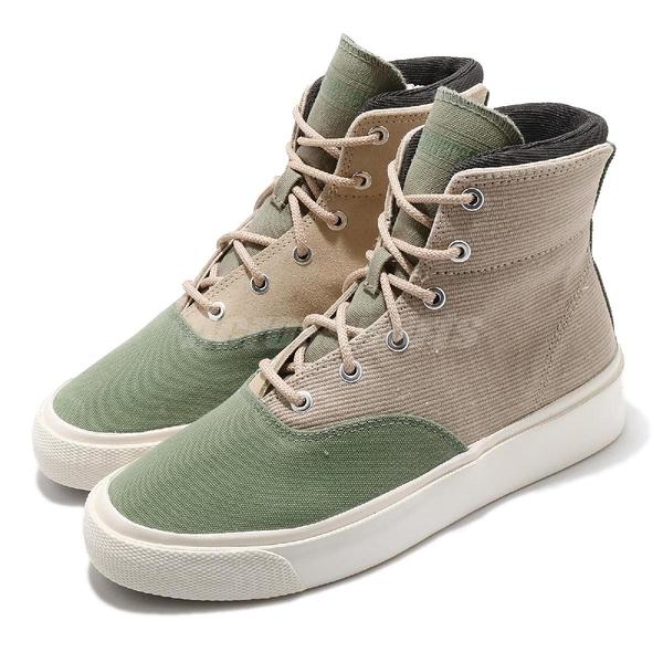 Converse 休閒鞋 Skid Grip 綠 米白 迷彩 男鞋 女鞋 拼接 高筒 復古 【ACS】 169640C