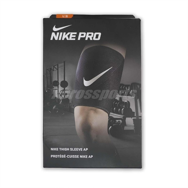 Nike 大腿護套 Pro Thigh Sleeve AP 彈性護套 黑 白 護具 大腿護腿 籃球 跑步 男女款【ACS】 NMS58-010