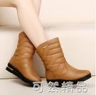 雪地靴女新款加絨加厚中筒靴冬季平底短靴女防水防滑保暖棉鞋 可然精品