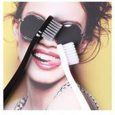 【6支】牙刷黑白情侶小頭卡萊絲軟毛成人家用【極簡生活館】