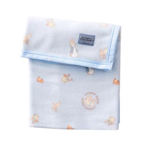 【奇買親子購物網】 奇哥比得兔 棉柔毯(85x115cm)-藍色/粉色