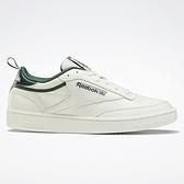 REEBOK CLUB C 85 男鞋 女鞋 休閒 經典 皮革 米白 綠【運動世界】FX3357