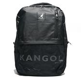 KANGOL 後背包 大容量 黑 白英文LOGO 雙肩後背包 (布魯克林) 6025320720
