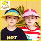 春夏UPF防曬撞色卡通大帽簷透氣遮陽空頂帽 Lemonkid 檸檬寶寶 28011