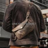 日式側背包手作包 男女情侶休閒隨身小包真皮簡約斜挎包手拿包【左岸男裝】