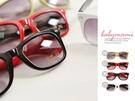 貝比幸福小舖【62201-A】復古彩色膠框漸層鏡片兒童太陽眼鏡 附汽車眼鏡盒*4色~