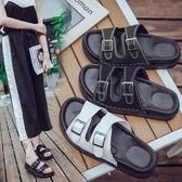 夏季時尚休閑拖厚底中跟松糕鞋拖室外沙灘鞋