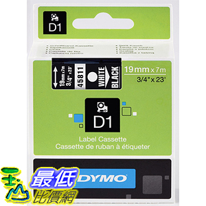 [美國直購] DYMO 45811 Standard D1 Self-Adhesive Polyester Tape for Label Makers 3/4 inch x 23 標籤紙