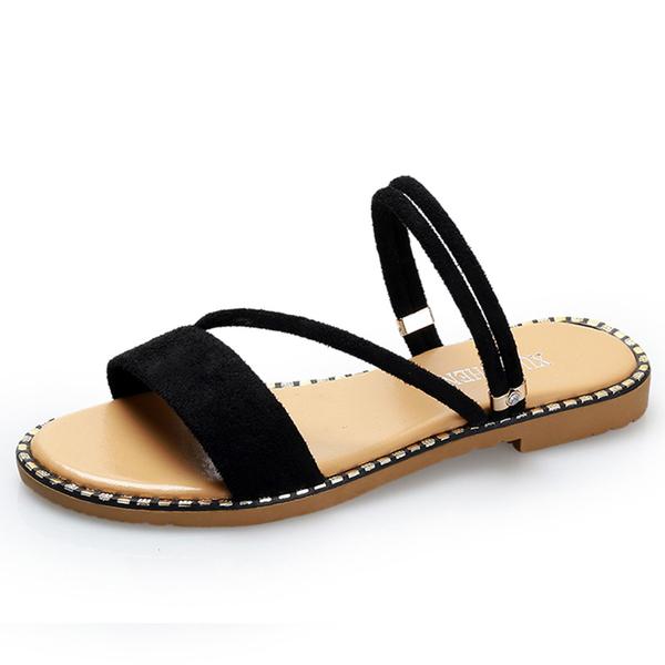羅馬涼鞋子女夏季2019正韓新款百搭平底一字學生沙灘涼拖鞋兩穿潮【持續上新】