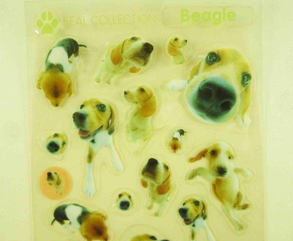 【震撼精品百貨】新大頭狗_The Dog~透明貼紙-米格魯