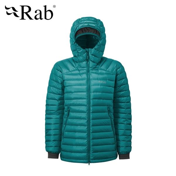【英國 RAB】Microlight Summit Jacket 高透氣羽絨連帽外套 女款 亞特蘭提斯 #QDA89