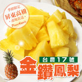 【家購網嚴選】 屏東高樹金鑽鳳梨5斤/盒(3顆裝)  無毒農法栽種