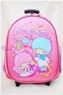♥小花花日本精品♥ Hello Kitty 雙子星派對冰品T字拉桿書包書包後背包