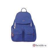 beside u BFYA 防潑水多夾層磁扣後背包 – 藍色 原廠公司貨