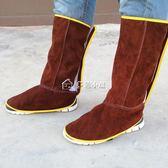 護腳套焊工護腳套電焊腳蓋皮純牛皮護腿電焊防燙防飛濺腳蓋勞保防護 多色小屋