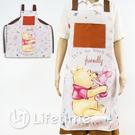 ﹝小熊維尼圍裙﹞正版 圍裙 緞帶圍裙 煮菜 廚房用具 迪士尼圍裙 維尼〖LifeTime一生流行館〗