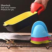 矽膠止滑隔熱手套 單隻入 隔熱手套 半指手套
