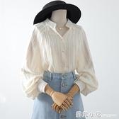 女襯衫設計感小眾2021年春款新款氣質燈籠袖長袖上衣洋氣襯衣女夏 蘇菲小店