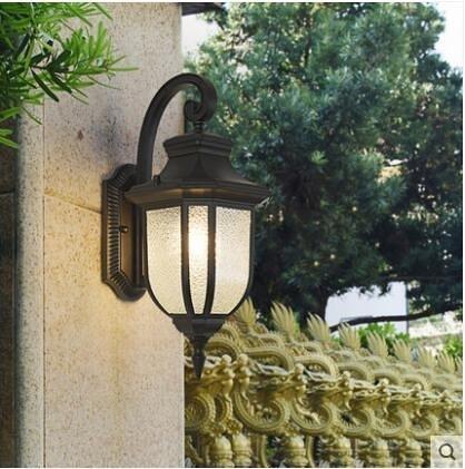 超實惠 壁燈 戶外防水壁燈美式簡約庭院燈室外過道陽檯燈露檯燈燈具W8049