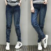 微購【A3079】鬆緊腰斜線顯瘦牛仔褲 XL-5XL