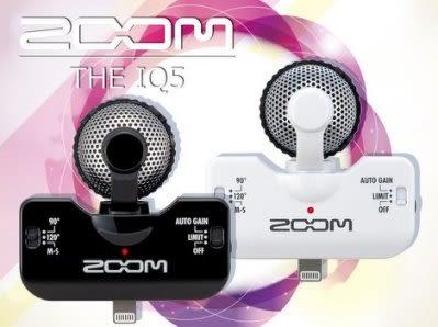 【小麥老師 樂器館】ZOOM iQ5 IPhone 5/IPad/IPod 專用 高感度 立體聲 收音mic 外接mic