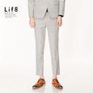 Formal 密織千鳥變化紋 修身西裝長褲-灰色【12028】
