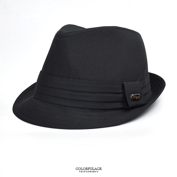 紳士帽 飾扣點綴簡約素面NHB13