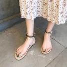 促銷全場九折 涼鞋女年夏季新款韓版學生百搭時尚仙女風綁帶外穿平底羅馬鞋