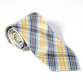 Roberta di Camerino 諾貝達格紋領帶-黃藍