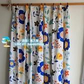 窗簾 加厚窗簾成品田園風格掛鉤飄窗臥室廚房半簾 風之海