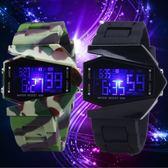 兒童手錶 電子錶 防水led飛機表運動潮男女果凍錶學生表七彩夜光兒童手錶