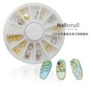 #74圓盤 日系高質量龐克風吊環 美甲水鑽飾品立體大鑽 裸鑽Nails Mall