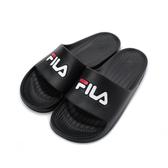 FILA 一體成型運動拖鞋 黑 4-S355Q-001 男女鞋 鞋全家福