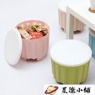 收納儲物凳可疊加可坐換鞋凳子塑料凳【星際小鋪】