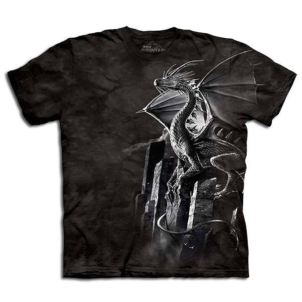 【摩達客】 (預購) 美國進口【The Mountain】自然純棉系列 銀火龍 設計T恤(1049045003a)