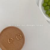 耳環 設計感金屬耳環女韓國ins冷淡風耳飾簡約圓圈氣質耳釘耳夾無耳洞【快速出貨】
