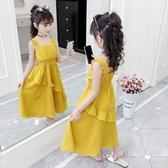 女童洋裝洋氣2019夏裝新款兒童裙子夏季網紅雪紡裙小女孩公主裙 嬌糖小屋