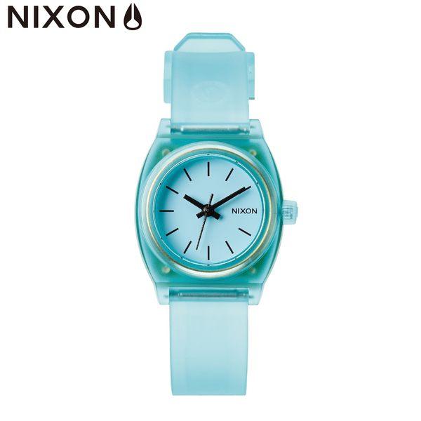 NIXON 手錶 原廠總代理 A425-1785 SMALL TIME TELLER P 蒂芬尼綠 潮流時尚膠錶帶 男女 生日 情人節禮物
