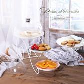 創意歐式三層蛋糕架雙層水果籃下午茶點心托盤婚慶糖果高腳台wy【快速出貨】