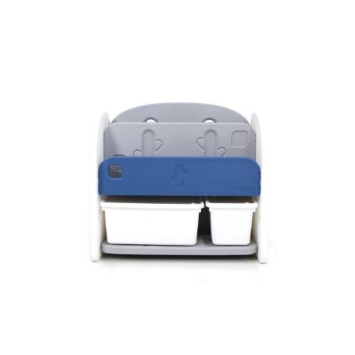 韓國 Ifam 深藍色書架收納組(白色收納盒x2)IF-064-1B[衛立兒生活館]