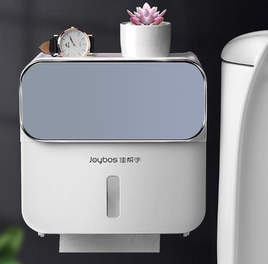 衛生間面紙盒 廁所衛生紙置物架抽紙盒免打孔創意防水紙巾架廁紙盒 快速出貨