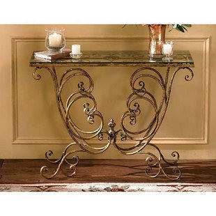 複古鐵藝壁桌(不含玻璃)