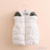 寶寶連帽棉馬甲 2020冬裝新款女童裝兒童棉服外套馬甲 聖誕節免運