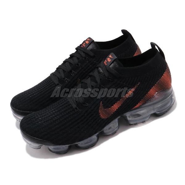 Nike 慢跑鞋 Air Vapormax Flyknit 3 黑 橘 男鞋 運動鞋 【PUMP306】 CU1926-001