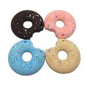 兒童咬牙器  食品級硅膠兒童玩具 可愛甜甜圈  嬰兒磨牙咬牙膠項錬玩具 快樂母嬰