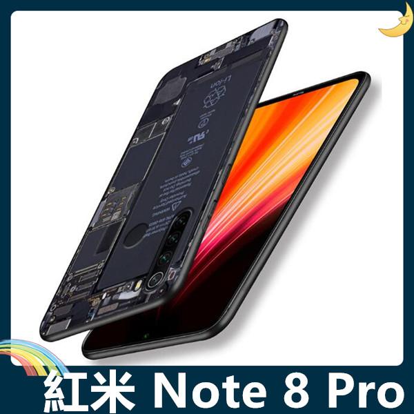 Xiaomi 小米 紅米機 Note 8 Pro 復古偽裝保護套 軟殼 懷舊彩繪 鍵盤 錄音帶 矽膠套 手機套 手機殼
