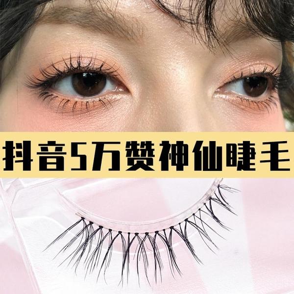 假睫毛女自然仿真眼睫毛貼超自然日本料雪里奈5萬贊神仙睫毛ab2 童趣屋  新品