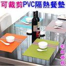 歐式簡約PVC餐墊 桌墊 隔熱墊 防滑墊(彩虹直條紋)-艾發現