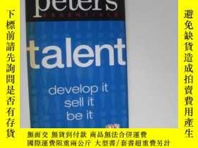 二手書博民逛書店Talent:develop罕見it sell it be it